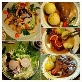 Verschiedene Speisekarten