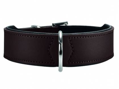 Hunter Basic Nickel Hundehalsband braun schwarz