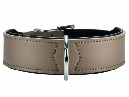 Hunter Basic Nickel Hundehalsband stone schwarz