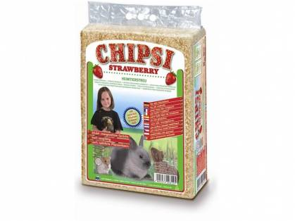 Chipsi Strawberry Heimtierstreu 60 Liter