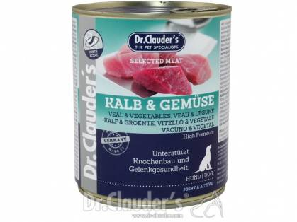 Dr. Clauder`s Selected Meat Kalb & Gemüse Hundefutter
