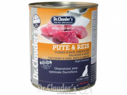 Dr. Clauder`s Selected Meat Pute & Reis Hundefutter