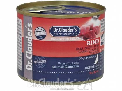 Dr. Clauder`s Selected Meat Rind Hundefutter