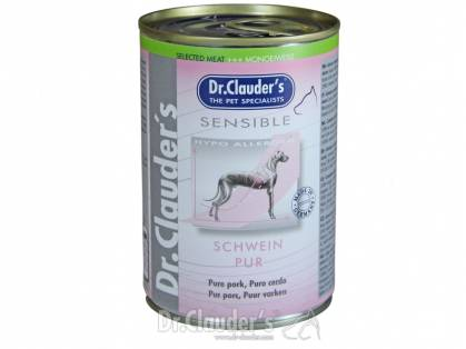 Dr. Clauder`s Selected Meat Sensible Schwein pur 6 x 400 g