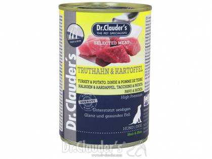 Dr. Clauder`s Selected Meat Truthahn & Kartoffel Hundefutter