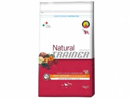 Trainer Natural Adult Medium Huhn-Reis-Aloe Vera Hundefutter trocken