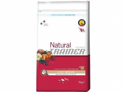 Trainer Natural Light Medium Huhn-Mais-Reis Hundefutter trocken 12,5 kg