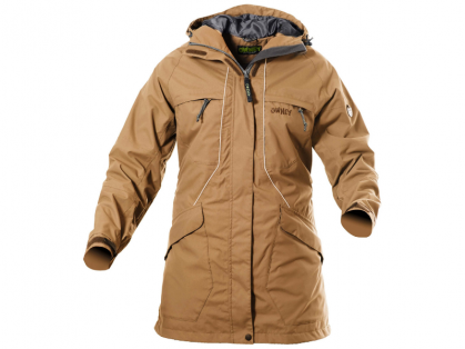 Owney Tuvaq Outdoor-Damenparka beige für Hundehalter