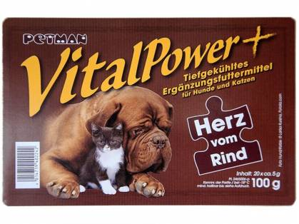 Petman Vital Power Herz vom Rind geblistert