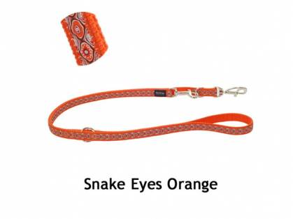 Red Dingo Snake Eyes Orange Hundeleine
