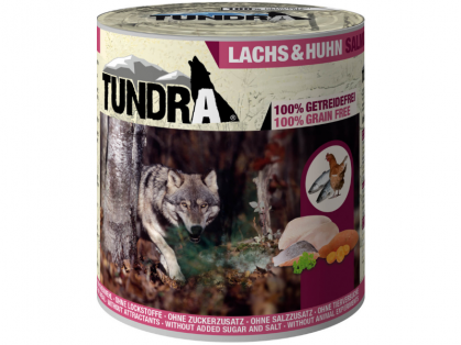 Tundra Lachs & Huhn Hundefutter nass