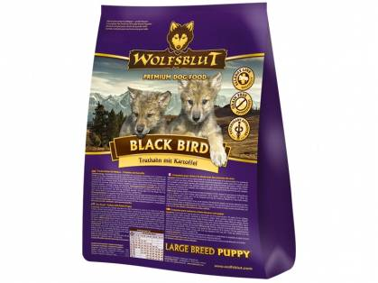 Wolfsblut Black Bird Puppy Large Breed Hundefutter mit Truthahn