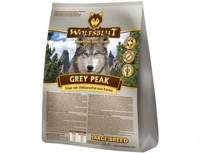 Wolfsblut Grey Peak Large Breed Hundefutter mit Ziege
