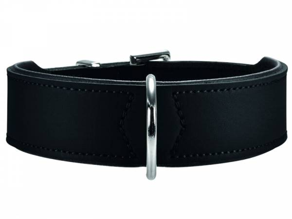 Hunter Basic Nickel Hundehalsband schwarz