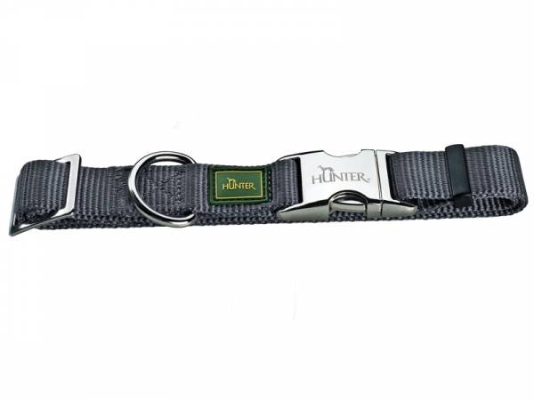 Hunter Halsung Vario Basic Alu-Strong Hundehalsband grau