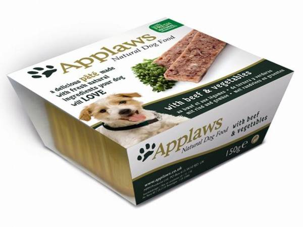 Applaws Natural Dog Food Paté Hundefutter mit Rind & Gemüse