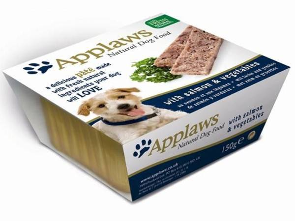 Applaws Natural Dog Food Paté Hundefutter mit Lachs & Gemüse