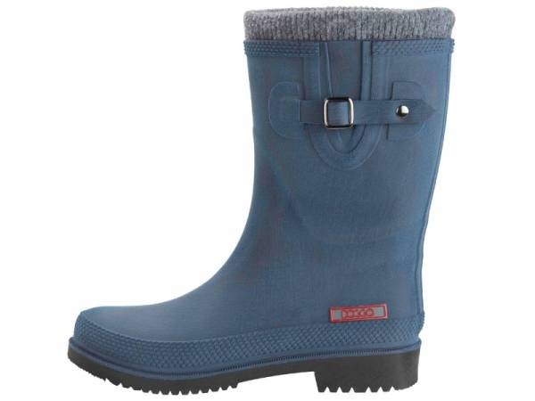 DOGGO Lotte Brushed Gummistiefel blau mit Warmfutter