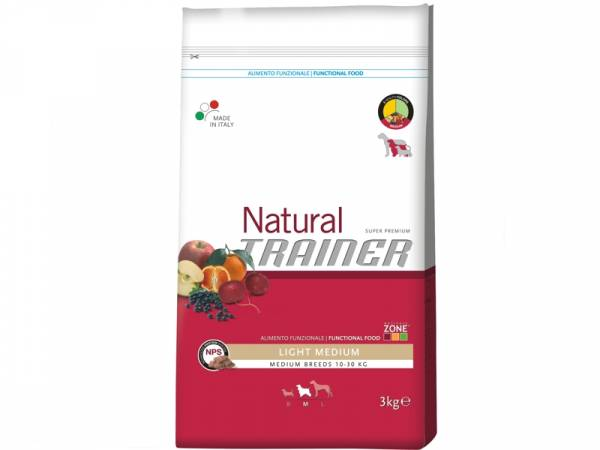 Trainer Natural Light Medium Huhn-Mais-Reis Hundefutter trocken