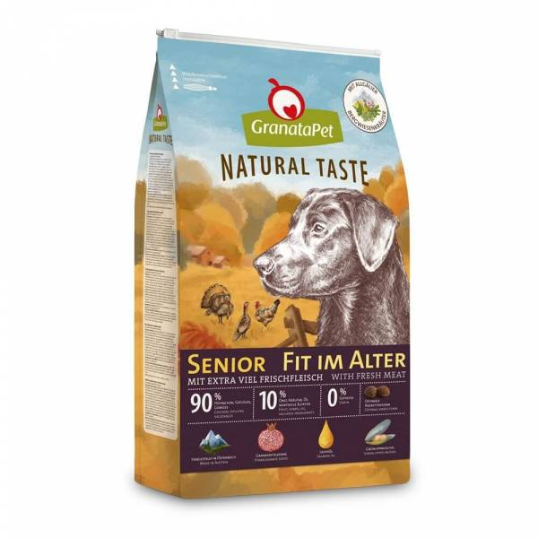 GranataPet Natural Taste Senior – Fit im Alter Hundefutter trocken