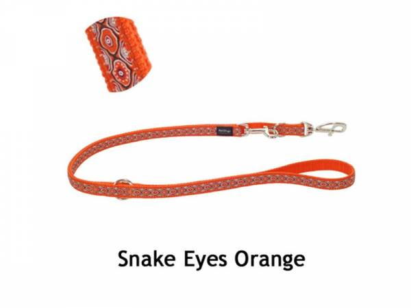 Red Dingo Hundeleine Nylon orange
