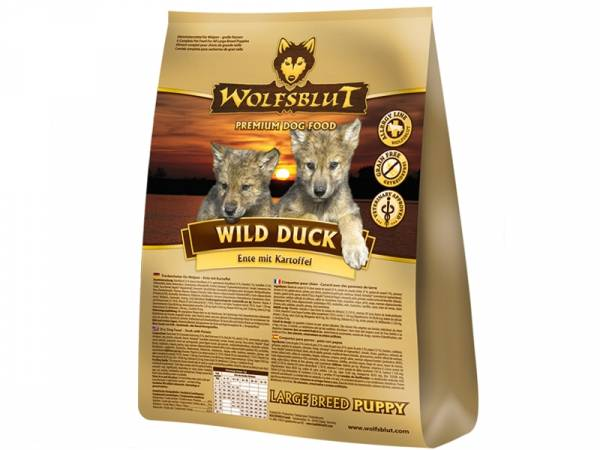 Wolfsblut Wild Duck Puppy Large Breed Hundefutter mit Ente